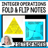 Middle School Math Foldable Style Notes : Integer Operations