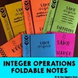 Integer Operations Foldables