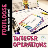 Integer Operations Task Cards - Footloose Math Game