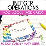 Integer Operations Task Cards - Footloose Math Game