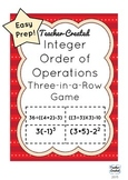 Integer Operations Game