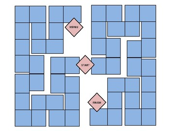 Adaptable Integer Operations Card Board Game for Middle School