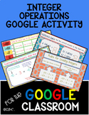 Integer Operations Google Classroom Activity Distance Learning
