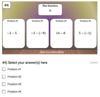 Integer Operations Google Form Bundle – 10 Activities for Google Classroom!