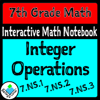 Integer Operations Foldable for Interactive Notebook