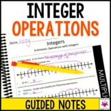 Integer Operations Guided Notes - Integer Operations Notes