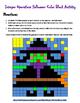 Integer Operations Halloween Color Block Activity