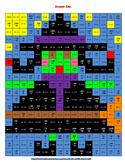 Integer Operations Halloween Color Block Activity