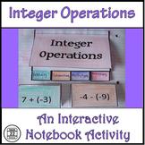 Integers Interactive Notebook Activities