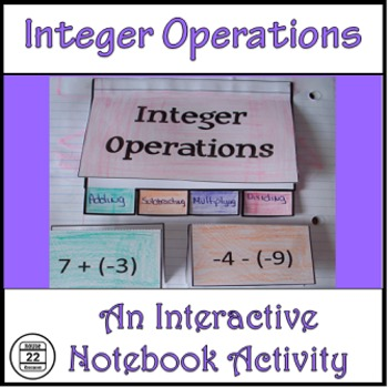 Integers Interactive Notebook Activities