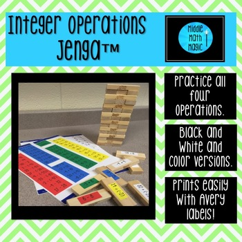 Integer Operations Jenga