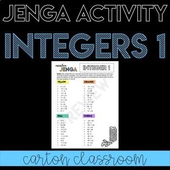 Integer Operations Jenga Activity