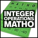 Integer Operations MATHO (Bingo Game)