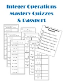 Integer Operations Mastery Quizzes