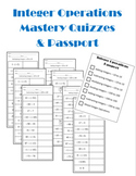 Integer Operations Mastery Quizzes Editable .docx File