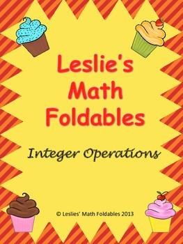 Integer Operations Math Foldable