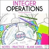 Integer Operations Math Wheel