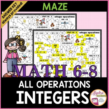 Integer Operations Maze Mixed Practice
