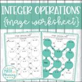 Integer Operations Maze Worksheet - 7.NS.A.3