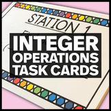 Integer Operations - Middle School Math Stations or Task Cards