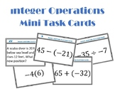 Integer Operations Mini Task Cards