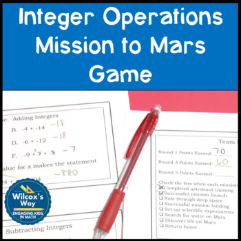 Integer Operations Mission to Mars Game