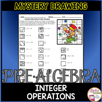Integer Operations Mystery Drawing