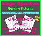 Integer Addition/Subtraction/Multiplication/Division Mystery Picture Puzzle