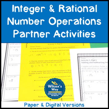Integer and Rational Numbers Operations Partner Activity