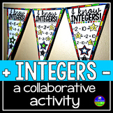 Integer Operations Math Pennant Activity - adding and subtracting integers