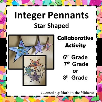 Integer Operations Pennant {Addition & Subtraction} 7.NS.1