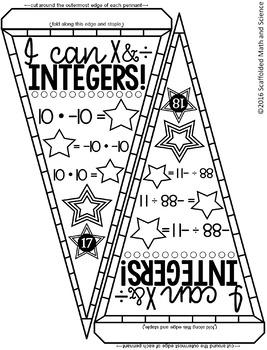 Integer Operations Pennant {multiply & divide}