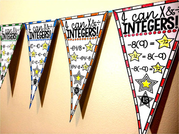 Integer Operations Pennant {multiplication & division}