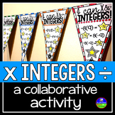 Integers Math Pennant - multiplying and dividing integers