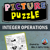 Integer Operations Picture Puzzle