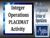 Integer Operations Placemat Activity (Full Version)