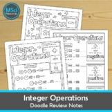 Integer Operations Positive Negative Numbers Doodle Sheet