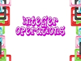 Integer Operations Powerpoint
