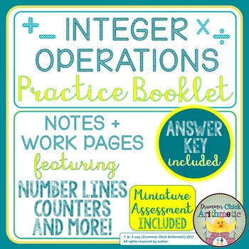 Integer Operations Practice Booklet