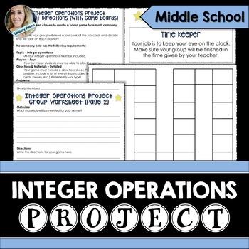 Integer Operations Math Project