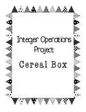 Integer Operations Project: Cereal Box