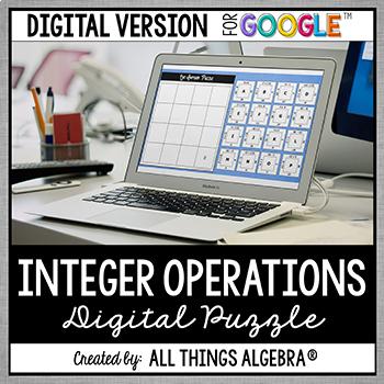 Integer Operations Puzzle - GOOGLE SLIDES VERSION
