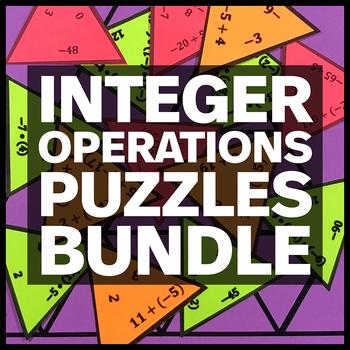 Integer Operations Puzzles Bundle