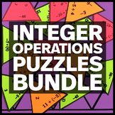 Integer Operations - Middle School Math Puzzles BUNDLE