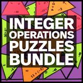 Integer Operations Puzzle BUNDLE - Fun Math Activity