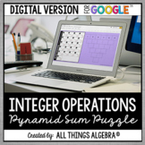 Integer Operations Pyramid Sum Puzzle: DIGITAL VERSION (for Google Slides™)