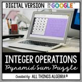 Integer Operations Pyramid Sum Puzzle: DIGITAL VERSION (fo