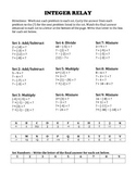 Integer Operations Review
