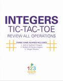 Integer Operations Review Activity - Partner Tic Tac Toe