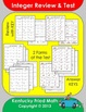 Integer Operations - Review and Test for Middle School Math